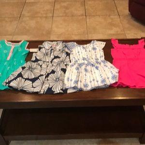 5 Carter summer dresses 24mon-2T